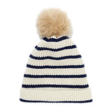 Buy Jigsaw Breton Stripe Hat, Cream Online at johnlewis.com