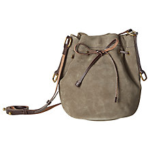 Buy White Stuff Joyce Suede Bucket Bag, Taupe Online at johnlewis.com