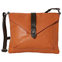 Buy White Stuff Pinto Leather Across Body Bag, Marmalade Online at johnlewis.com