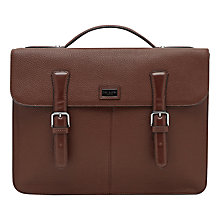 Buy Ted Baker Bengal Leather Satchel, Tan Online at johnlewis.com