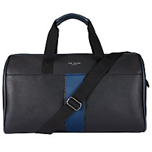 Buy Ted Baker Kray Embossed Holdall, Black Online at johnlewis.com