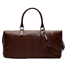 Buy Ted Baker Tiger Leather Holdall, Tan Online at johnlewis.com
