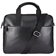 Buy Ted Baker Morcor Leather Document Bag, Black Online at johnlewis.com