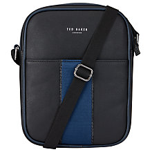 Buy Ted Baker Escabar Emboss Flight Bag, Black Online at johnlewis.com