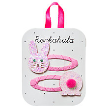 Buy Rockahula Children's Bunny Hair Clip, Pack of 2, Pink Online at johnlewis.com