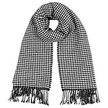 Buy Oasis Reversible Mono Scarf, Black/White Online at johnlewis.com
