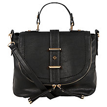 Buy Oasis Chloe Satchel, Black Online at johnlewis.com