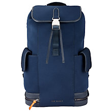 Buy Ted Baker Sportzi Neoprene Backpack, Navy Online at johnlewis.com