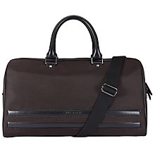 Buy Ted Baker Tanclan Nylon Holdall, Chocolate Online at johnlewis.com