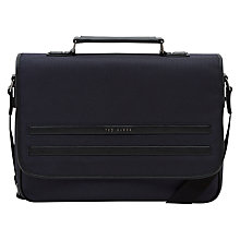 Buy Ted Baker Jazjeff Nylon Despatch Bag, Navy Online at johnlewis.com