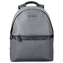 Buy Ted Baker Stingra Nylon Backpack, Charcoal Online at johnlewis.com
