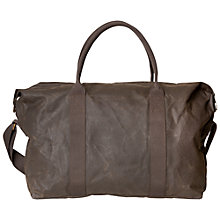 Buy Barbour Dry Wax Cotton Dromond Holdall, Olive Online at johnlewis.com