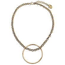 Buy People Tree Large Circle Necklace, Gold Online at johnlewis.com