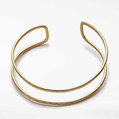 People Tree Double Bangle, Gold