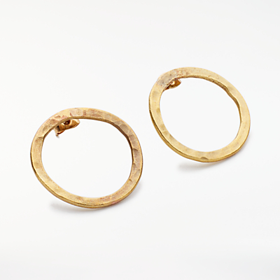 People Tree Simple Circle Earrings, Gold