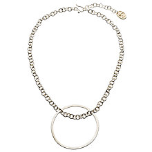 Buy People Tree Large Circle Necklace, Silver Online at johnlewis.com