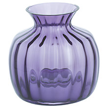 Buy Dartington Crystal Cushion Small Posy Vase, H13cm, Amethyst Online at johnlewis.com