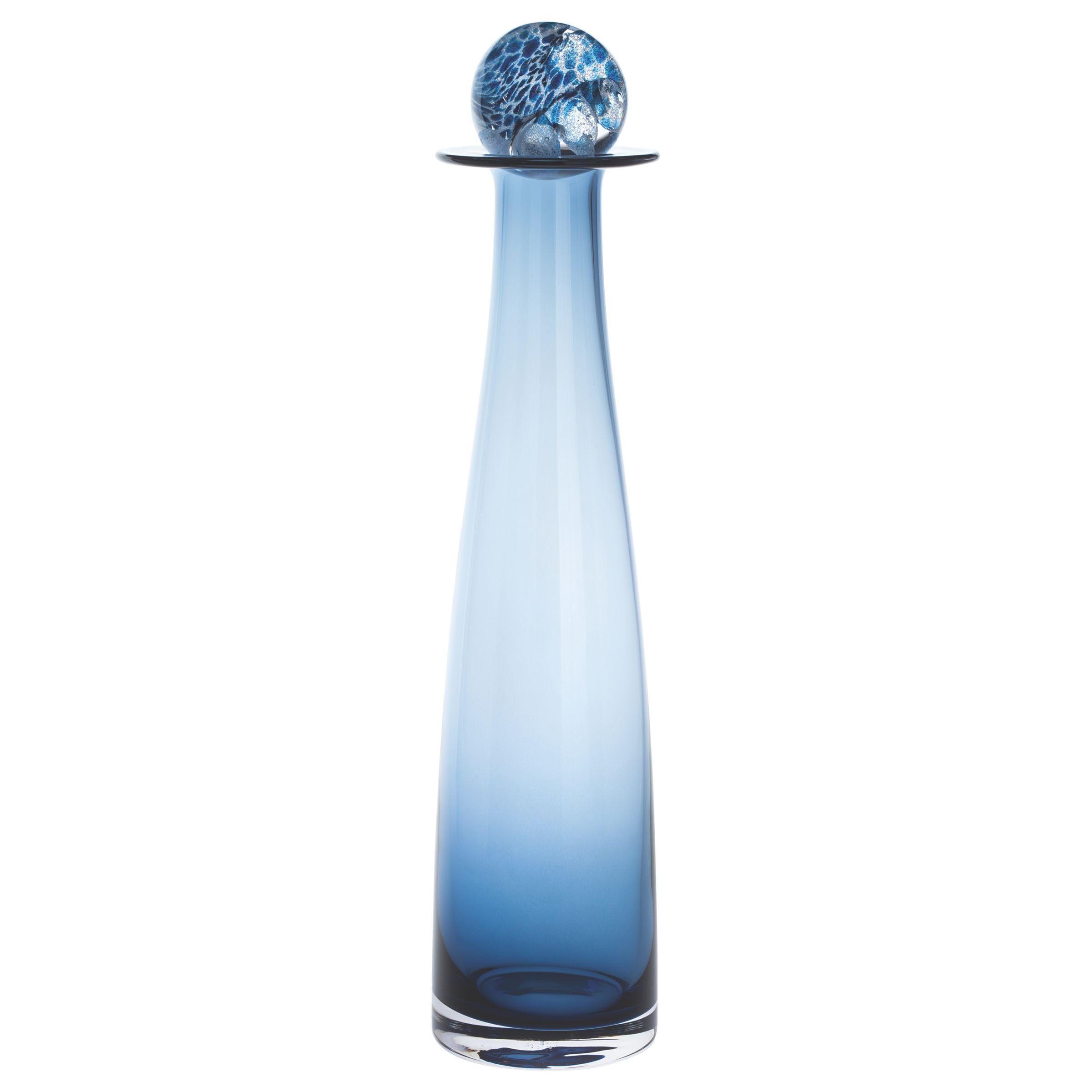 Dartington Crystal Dartington Crystal Large Elgin Bottle, Ink Blue