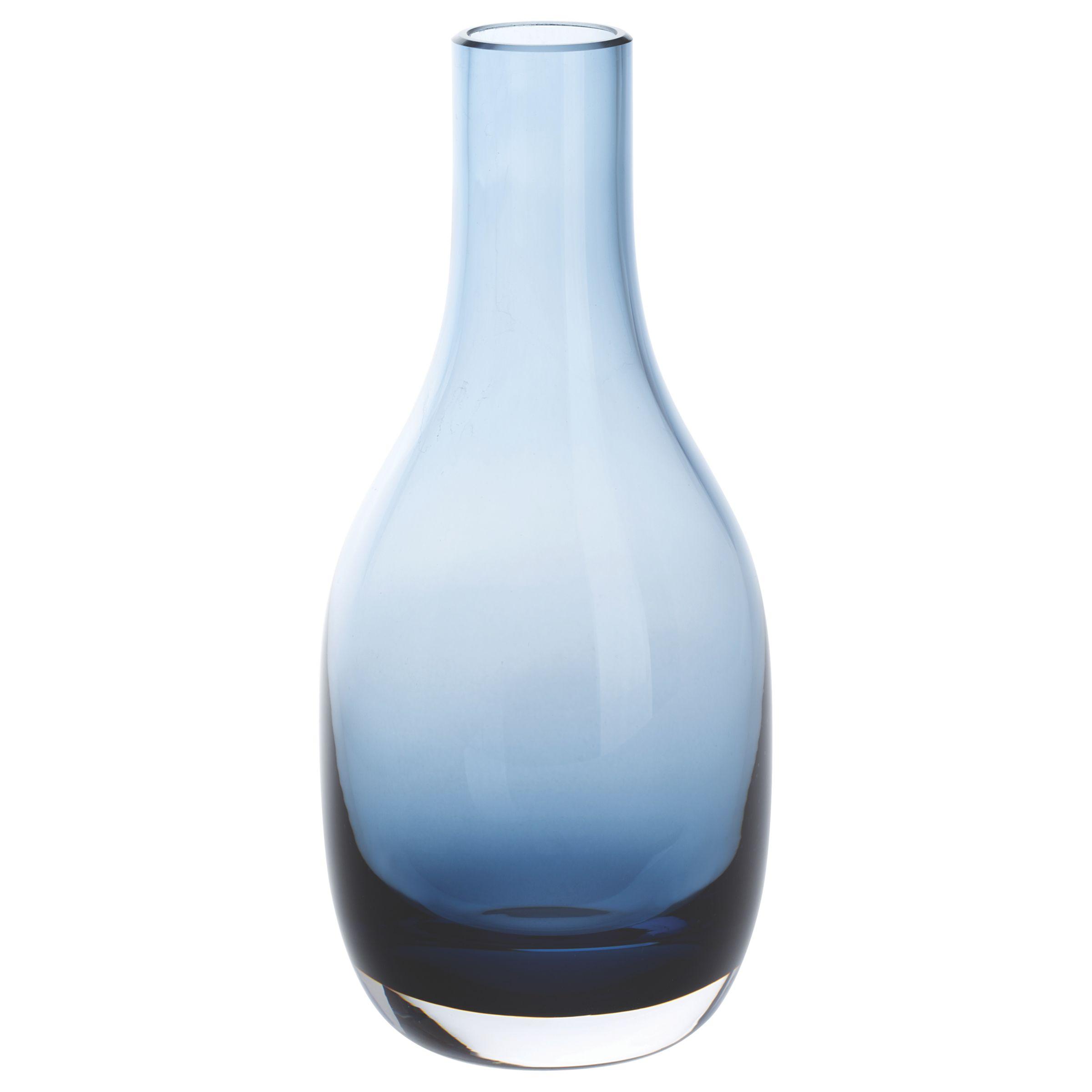 Dartington Crystal Dartington Crystal Aurora Small Stem Vase, Ink Blue