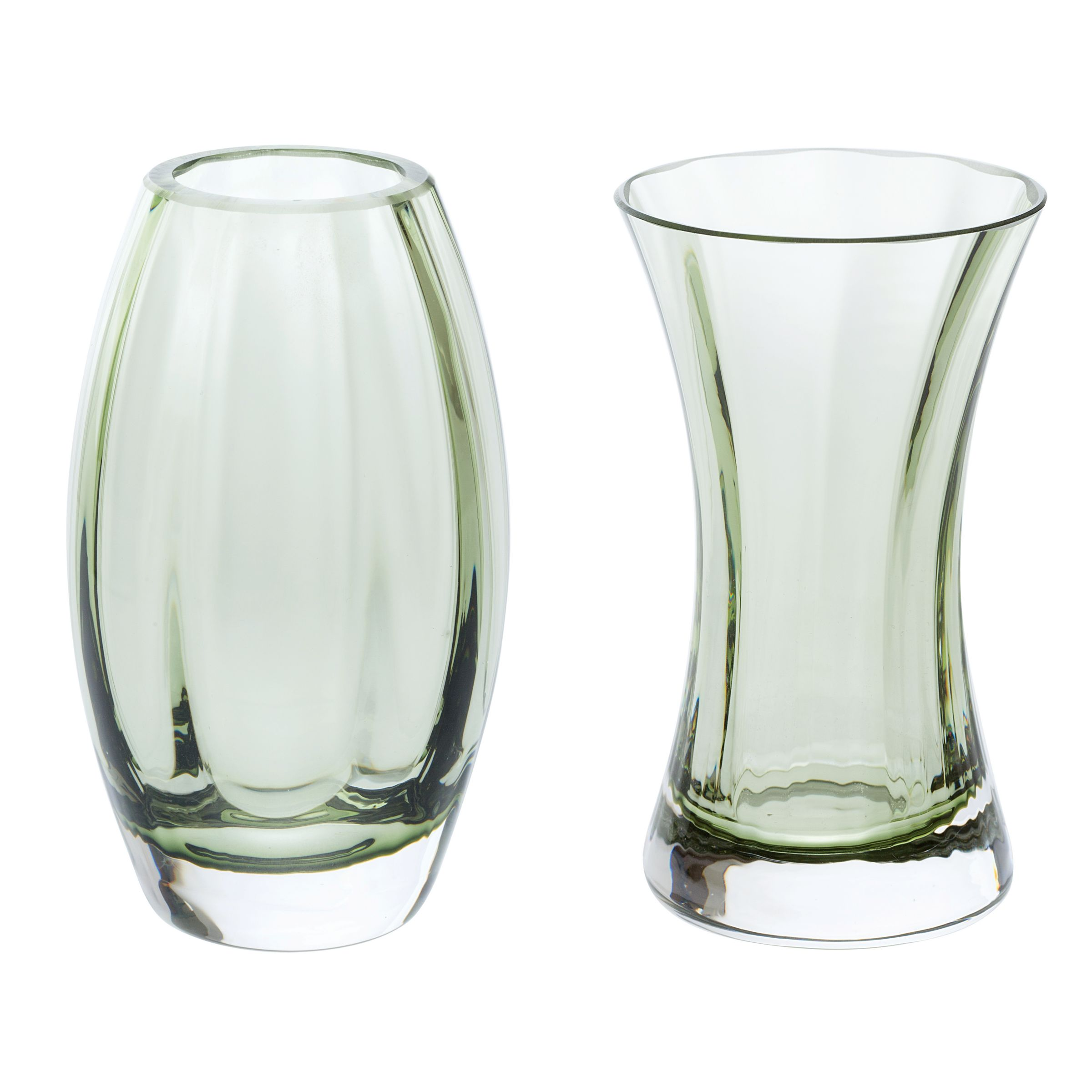 Dartington Crystal Dartington Crystal 'Adam & Eve' Vases, Gift Pack, Set of 2