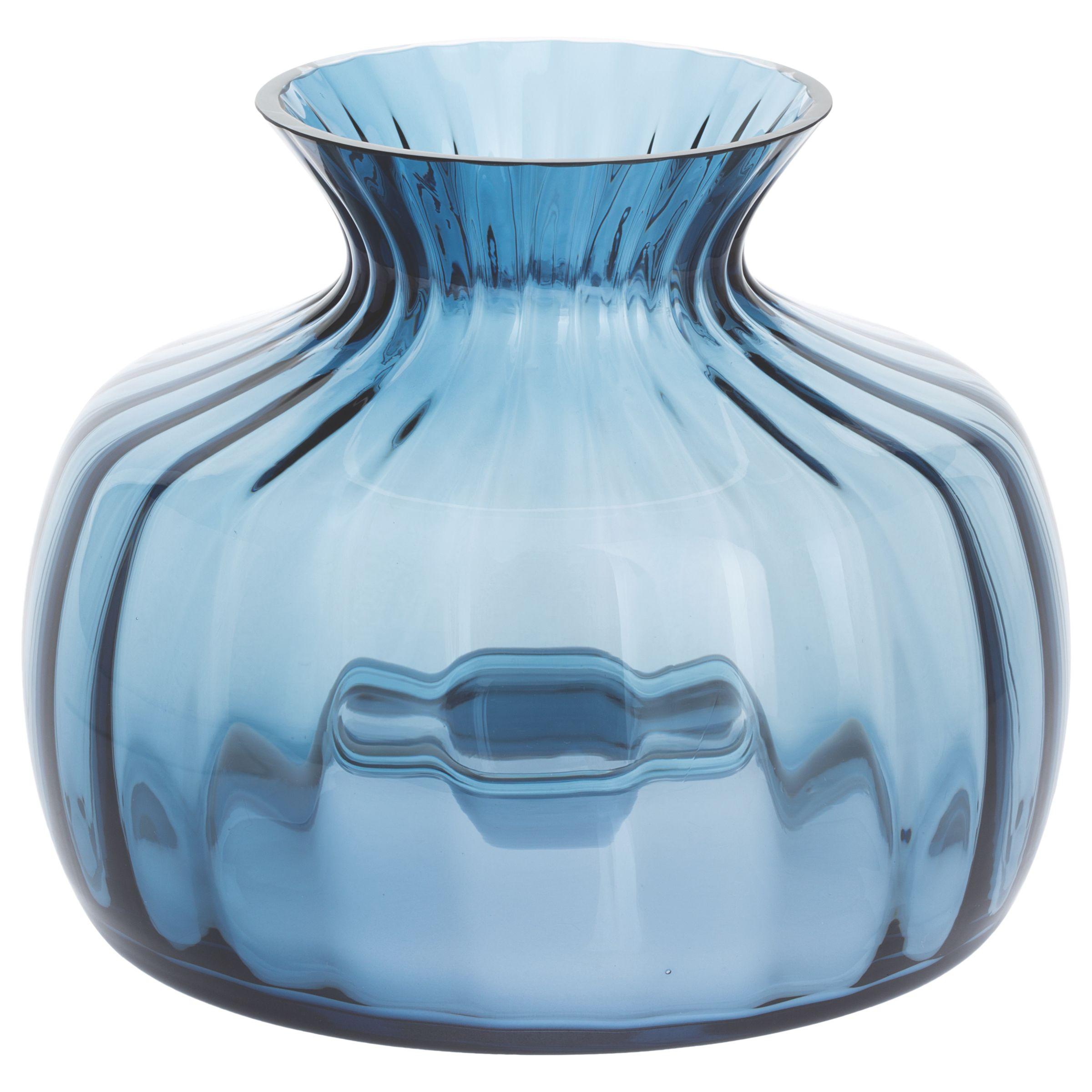 Dartington Crystal Dartington Crystal Cushion Medium Posy Vase, Ink Blue