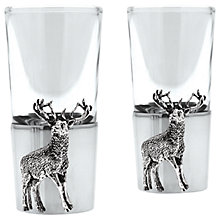 Buy English Pewter Company Stag Shot Glasses, Set of 2 Online at johnlewis.com