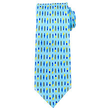 Buy John Lewis Surfboard Silk Tie, Blue Online at johnlewis.com
