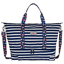 Buy Cath Kidston Breton Stripe Foldaway Bag, Navy Online at johnlewis.com