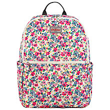 Buy Cath Kidston Painted Pansies Fold Backpack, Pink Online at johnlewis.com