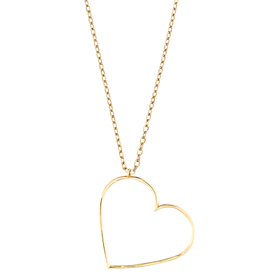 Estella Bartlett Open Heart Pendant Necklace, Gold