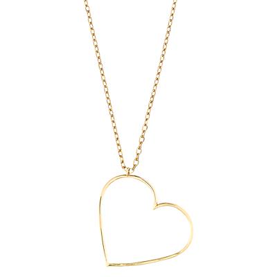 Estella Bartlett Open Heart Pendant Necklace, Gold