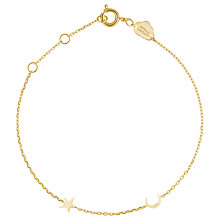 Buy Estella Bartlett Moon Star Charm Chain Bracelet, Gold Online at johnlewis.com