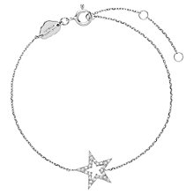 Buy Estella Bartlett Sterling Silver Cubic Zirconia Star Bracelet, Silver Online at johnlewis.com