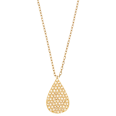 Estella Bartlett Cubic Zirconia Raindrop Necklace