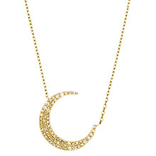 Buy Estella Bartlett Cubic Zirconia Crescent Moon Pendant Necklace Online at johnlewis.com