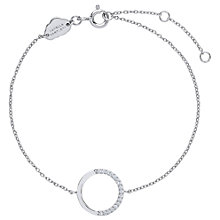 Buy Estella Bartlett Cubic Zirconia Large Circle Bracelet Online at johnlewis.com