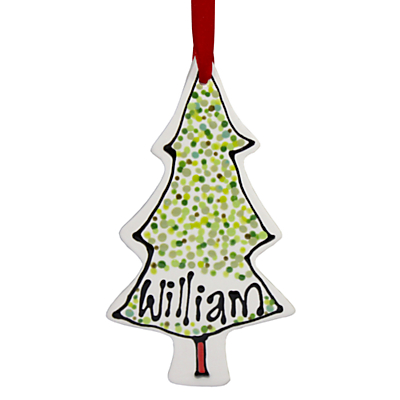 Image of Gallery Thea Personalised Christmas Tree Hanging Decoration