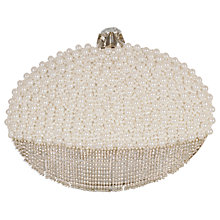 Buy Chesca Pearl Diamante Clutch Bag, Ivory Online at johnlewis.com