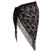 Buy Chesca Floral Lace Sarong, Black Online at johnlewis.com