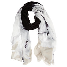Buy Mint Velvet Petra Print Blocked Scarf, Multi Online at johnlewis.com