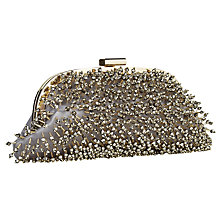 Buy Jacques Vert Gold Sparkle Clutch Bag, Metallic Gold Online at johnlewis.com