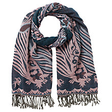 Buy East Jacquard Stretchy Scarf, Pink Online at johnlewis.com