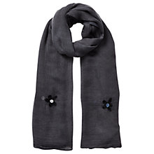 Buy East Embroidered Floral Scarf, Slate Online at johnlewis.com