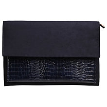 Buy Carvela Dixon Textured Clutch Bag, Navy Online at johnlewis.com