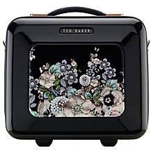 Buy Ted Baker Gem Garden Vanity Case, Black Online at johnlewis.com