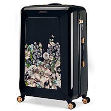 Buy Ted Baker Gem Garden 79cm 4-Wheel Suitcase, Black Online at johnlewis.com