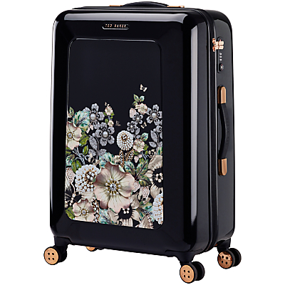 Ted Baker Gem Garden 69cm 4-Wheel Suitcase, Black