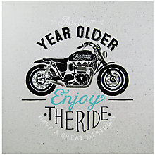 Buy Carte Blanche Motorcycle Birthday Card Online at johnlewis.com