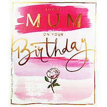 Buy Cardmix Watercolour Flowers Mum Greeting Card Online at johnlewis.com