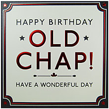Buy Hotchpotch Old Chap Birthday Card Online at johnlewis.com